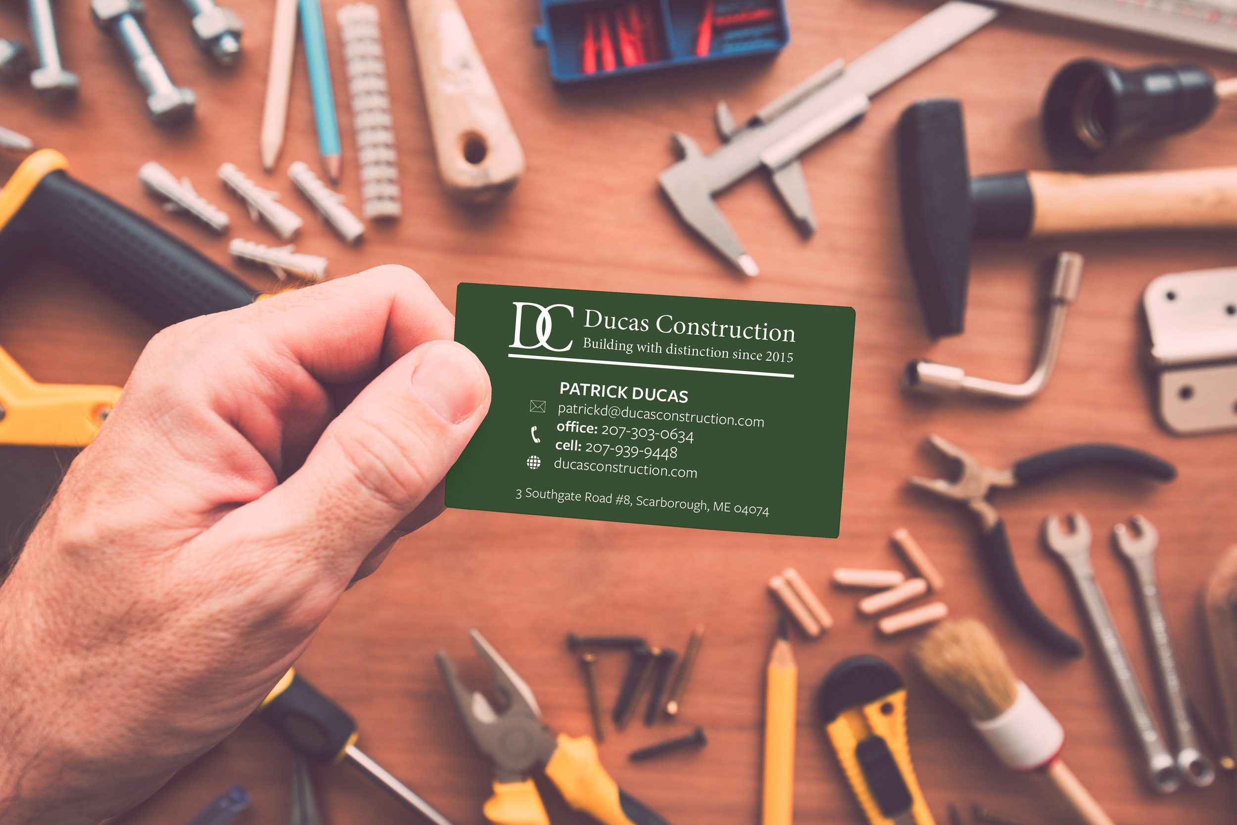 Ducas Construction Business Cards – Cental Design Co.