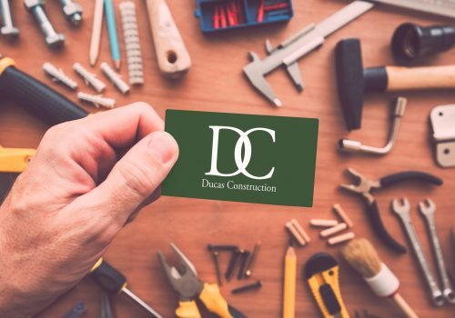 Business Card For Construction Contractor In Portland ME